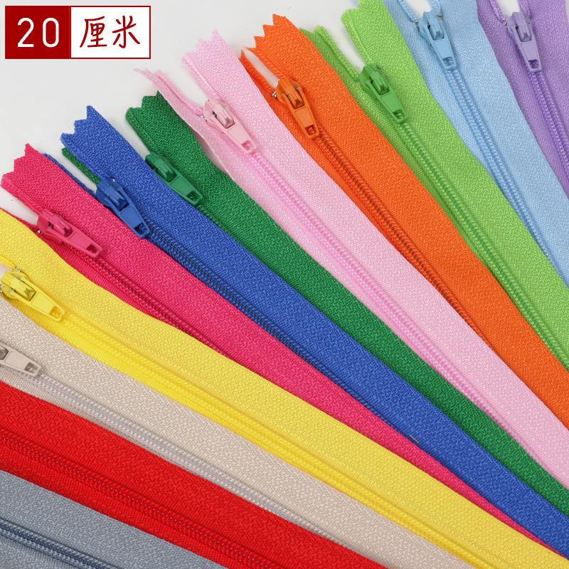ENDIAN Dây kéo Nylon Nhà sản xuất cung cấp màu số 3 nylon kiểm soát truy cập dây kéo 20CM nylon đóng