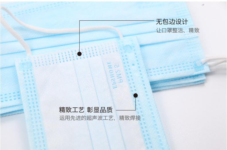 Khẩu trang y tế chống bụi PM2.5 dày ba lớp