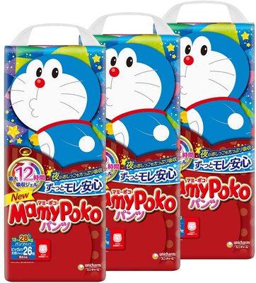 Mamy Poko Tả giấy Nhật Bản MamyPoko mẹ bé Doraemon phiên bản pull-up quần XL mã