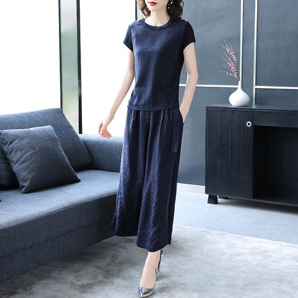 Đồ Suits  Bộ đồ vest nữ 2020 mùa hè mới tay ngắn buông thả giản dị thời trang khí chất quần ống rộng
