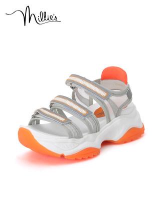 Millie's giày bánh mì / giày Platform Millie / Miao Li 2020 mùa hè mới từ vành đai thể thao dép cầu
