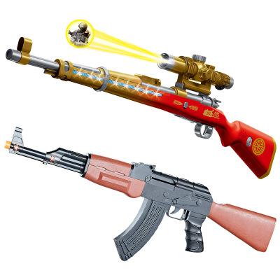 FEIHANG Súng giả Little Force 98k đồ chơi điện âm thanh và ánh sáng rung súng mô phỏng âm nhạc chiếu