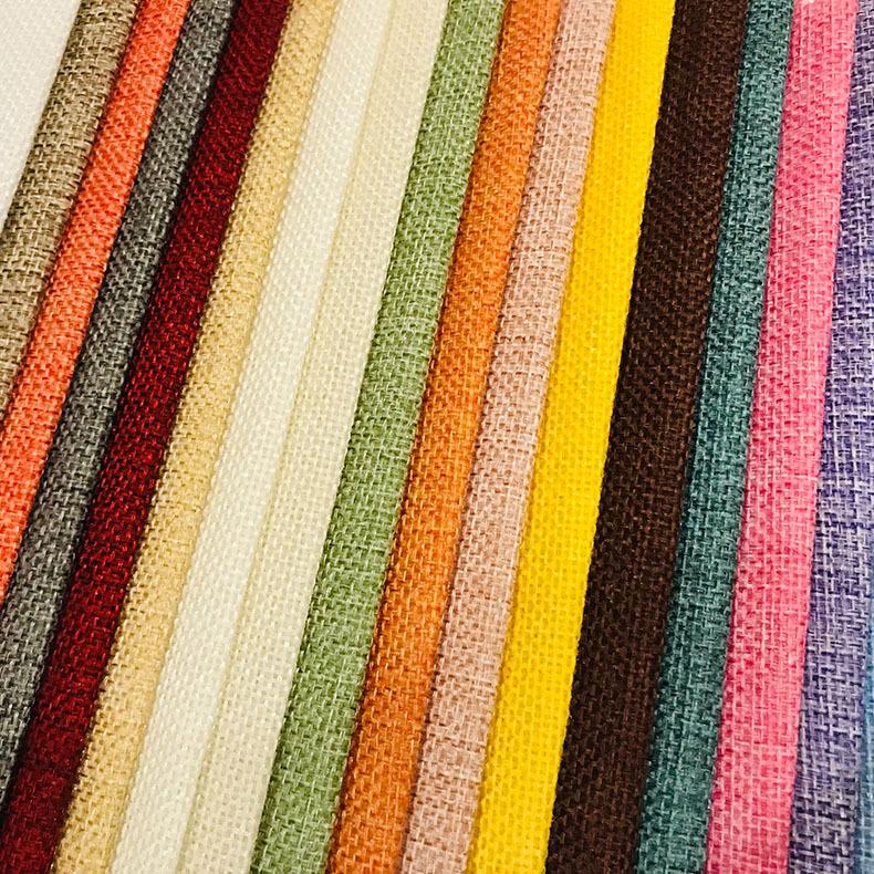 DEBL Vải Linen Spot 1200D 64 màu vải cation giả hai màu vải lanh Giáng sinh chùm vải polyester vải l