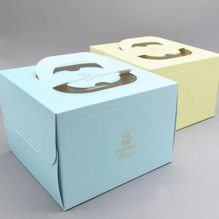 Yinchuang Hộp giấy bao bì Sinh nhật 6 inch 8 inch theo phong cách châu Âu thụt đầu dòng bánh sinh nh
