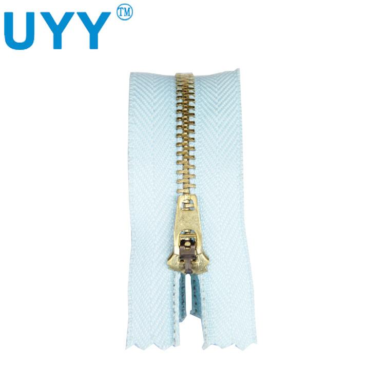 UYY Dây kéo kim loại Nhà máy UYY đóng trực tiếp 4 # dây kéo kim loại Quần dài 18 cm đặc biệt dây kéo