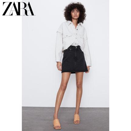 ZARA váy  Váy ngắn denim nữ của ZARA TRF 08197281800