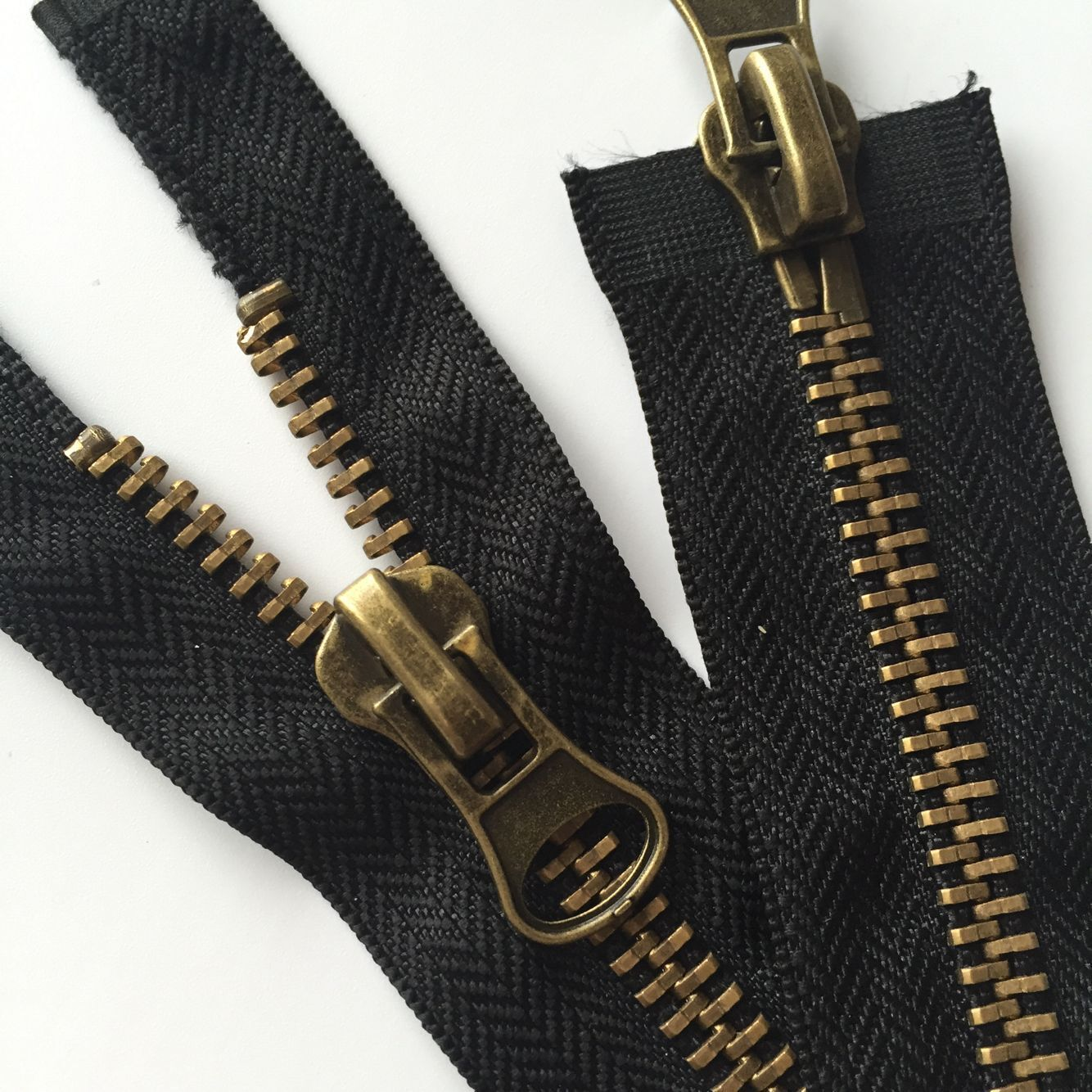 Dây kéo kim loại Khóa kéo đôi bằng kim loại số 5, khóa kéo bằng đồng cho áo khoác ngoài và hành lý