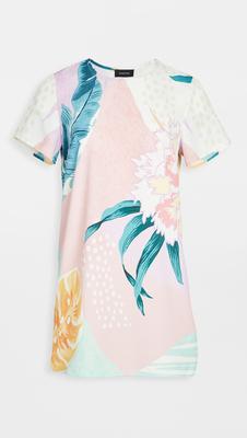 MINKPINK Thời trang nữ Mùa hè 2020 mới ~ Đầm sơ mi họa tiết lá trừu tượng MINKPINK
