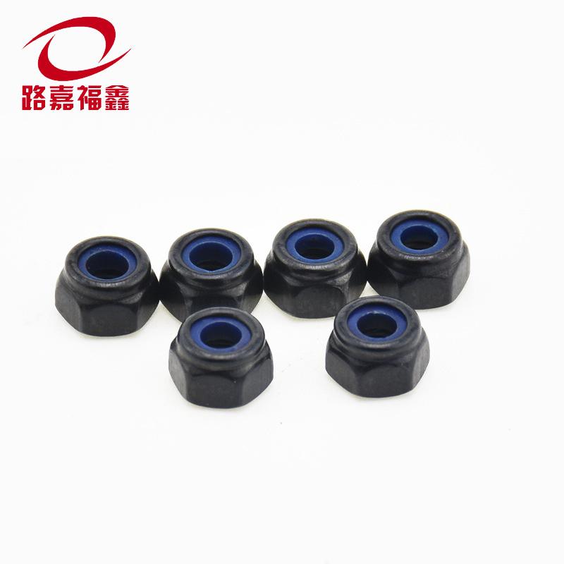 LJFX Tán Đai ốc tự khóa M2-M16 màu đen chống nới lỏng đai ốc lục giác khóa ốc vít nhà sản xuất bán b
