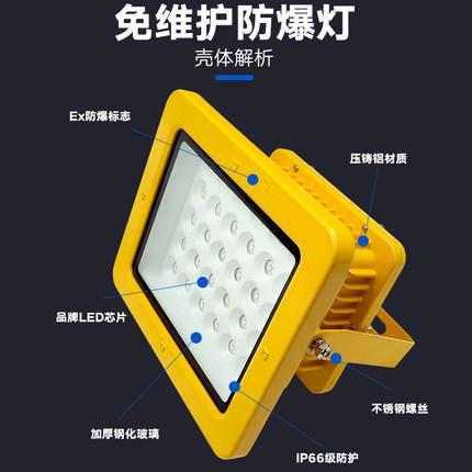 LUXINUO  Đèn LED chống cháy nổ Đèn nhà máy chống cháy Đèn chống ẩm và chống ăn mòn Kho tìm kiếm Đèn