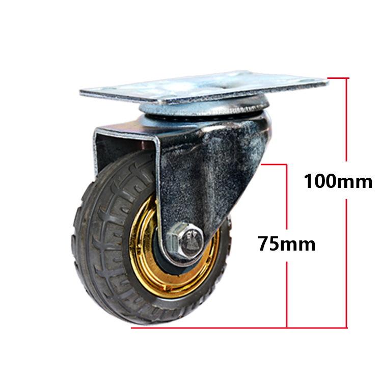bánh xe đẩy(Bánh xe xoay) 3 inch 4 inch Bánh xe phổ thông 5 inch cực kỳ yên tĩnh với phanh bánh xe n