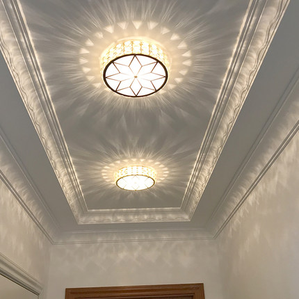 Bóng đen LED âm trần  Lối đi hành lang ánh sáng hành lang sáng tạo ánh sáng led pha lê spotlight ánh