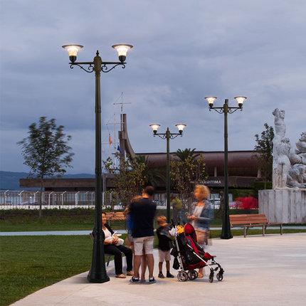 Đèn LED chiếu sáng công cộng  Đèn đường năng lượng mặt trời đèn đường cộng đồng đèn cảnh quan nhà đè