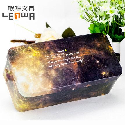 Lianhua Hộp da  văn phòng phẩm hộp sắt đơn giản hộp lưu trữ hộp văn phòng phẩm hộp sáng tạo dễ thươn