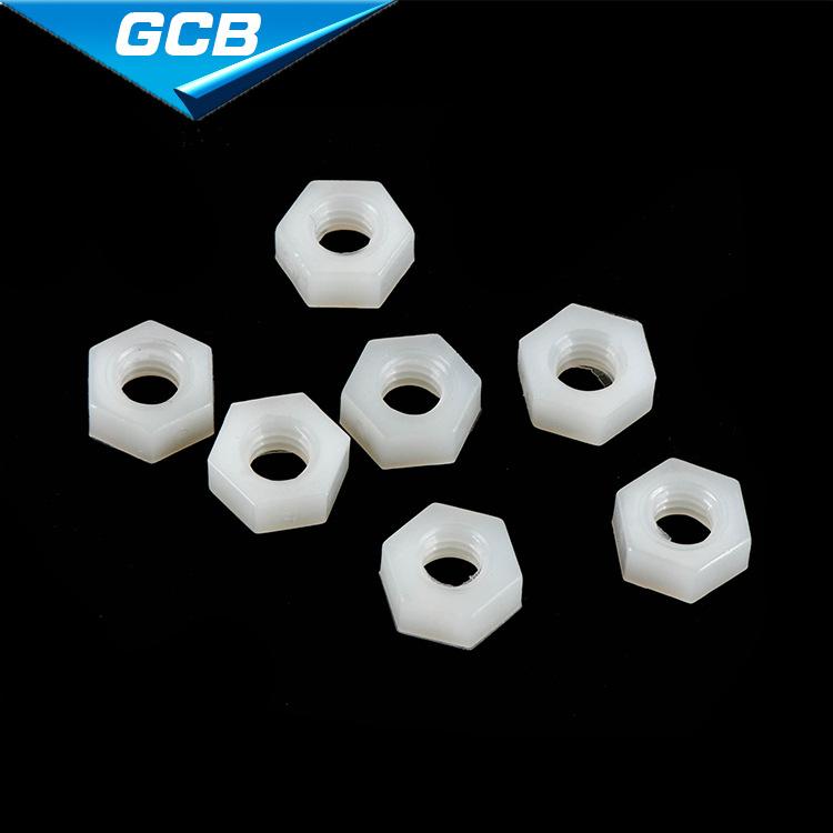 GAOCHEBA Tán Nhà máy trực tiếp bán hạt nhựa lục giác hạt nhựa trắng cách điện hạt nylon M2M3M4M5M6M8