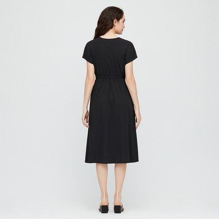 Đầm Váy đan lạ mắt của phụ nữ (Tay áo ngắn) 424195 UNIQLO