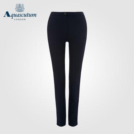 Aquascutum áo thun / Yage Shidan Bà Simple Micro Đàn hồi phù hợp với quần Slim Slim Đi lại thẳng