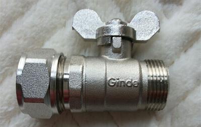 Ginde Ống nhựa Bộ chia nước Ginde Jinde Van bi Jinde Jinde kết nối trực tiếp van chia nước phù hợp v