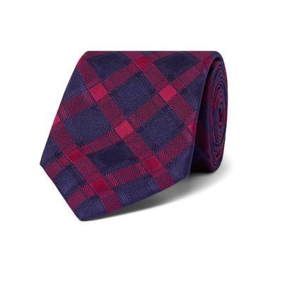 Charvet Áo sơ mi Men Xuân 2020 Sản phẩm mới 8.5 Kiểm tra lụa Jacquard Tie Bow Tie