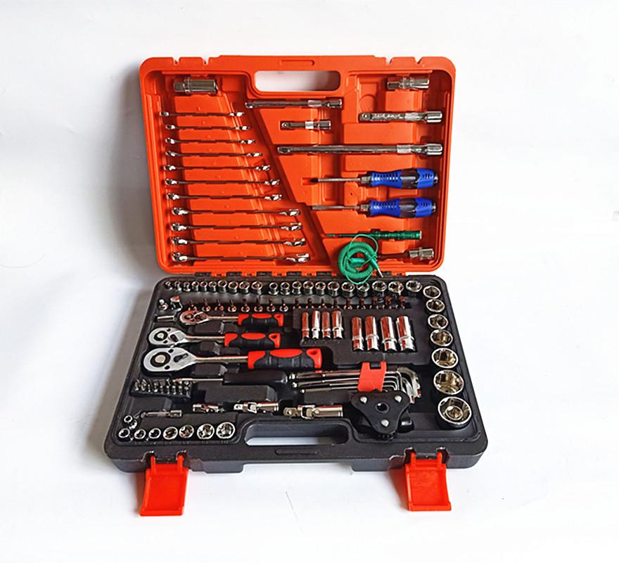 Dụng cụ tổng hợp Nhà máy trực tiếp bán bộ sửa chữa xe hơi 121 bộ công cụ kết hợp cờ lê ổ cắm