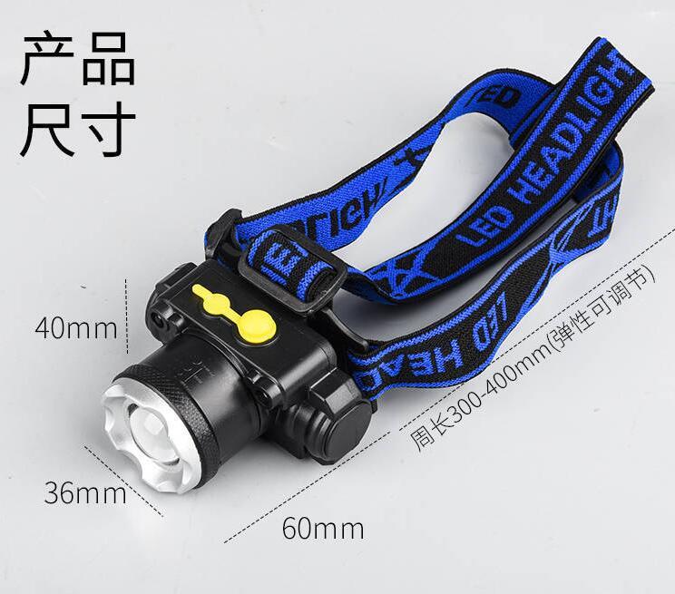 Xuyên biên giới dành riêng cho đèn pha cảm biến USB led đèn câu cá ngoài trời zoom T6 tích hợp sạc c