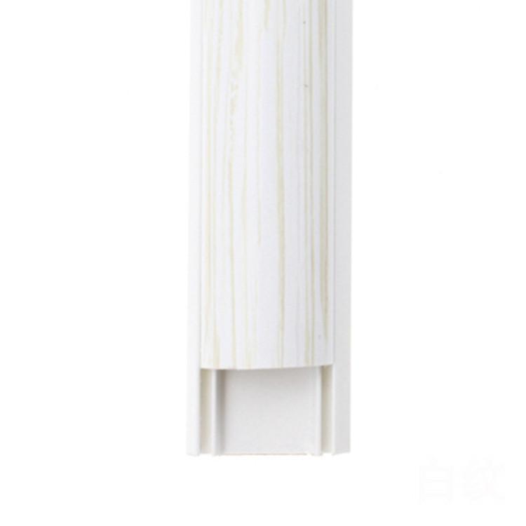 XINHENG Vật liệu dị dạng Nhà máy bán hàng trực tiếp PVC ép đùn hồ sơ hạt gỗ thân cây kích thước chín