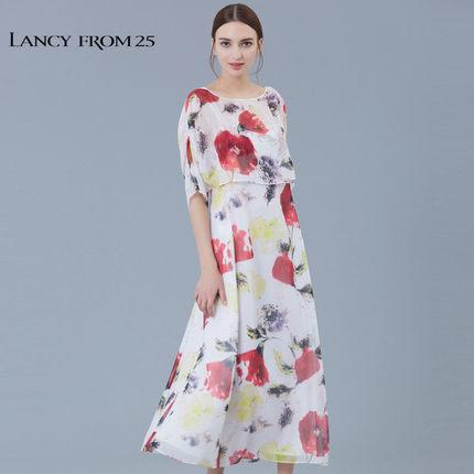 LANCY FROM 25 Thời trang nữ LANCY Langzi váy nữ mùa hè mới LA16205WOP537