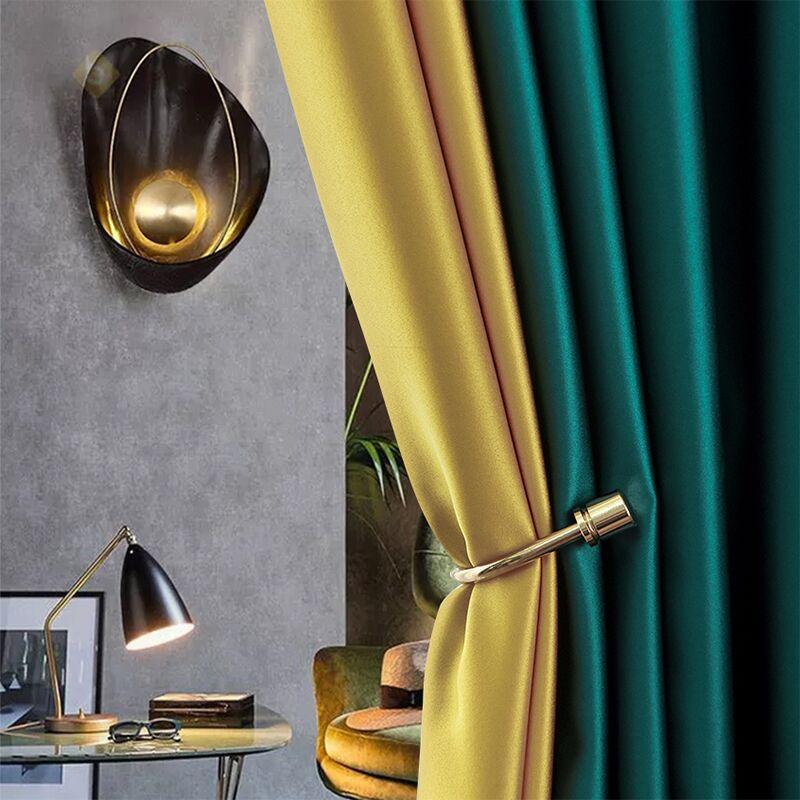 HAOYI Vải rèm cửa Ánh sáng Bắc Âu sang trọng nhân tạo lụa che rèm vải phòng khách phòng ngủ vải rèm