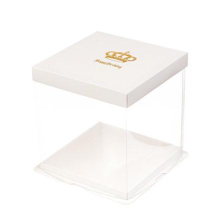 Hộp giấy bao bì Hộp đựng bánh trong suốt hộp 4 6 8 10 12 14 inch Sinh nhật Barbie bóng đơn hộp đôi c