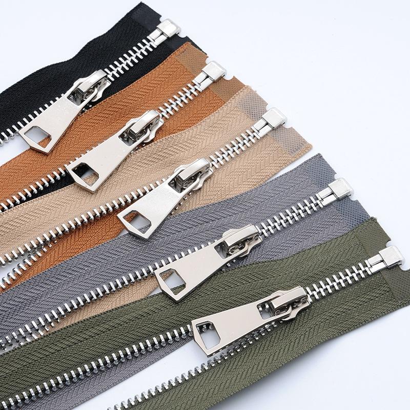 HY Dây kéo kim loại Số 5 kim loại dây kéo đơn mở và đóng đuôi bạch kim vàng nhẹ dây kéo túi kiểm soá