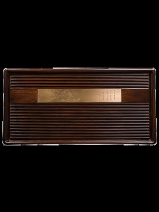 khay trà bằng gỗ rắn thiết kế đơn giản cho hộ gia đình