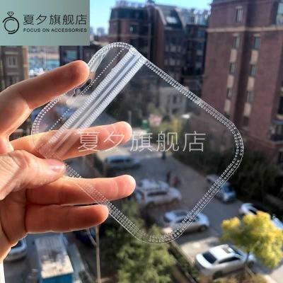 Xia Xi Túi đựng trang sức Túi nhỏ bông tai trang sức túi đầy đủ trong suốt với lỗ treo đồ trang sức
