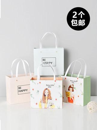 Túi giấy đựng quà Túi quà tặng xách tay túi giấy phiên bản Hàn Quốc nghệ thuật sinh nhật nhỏ tươi vớ