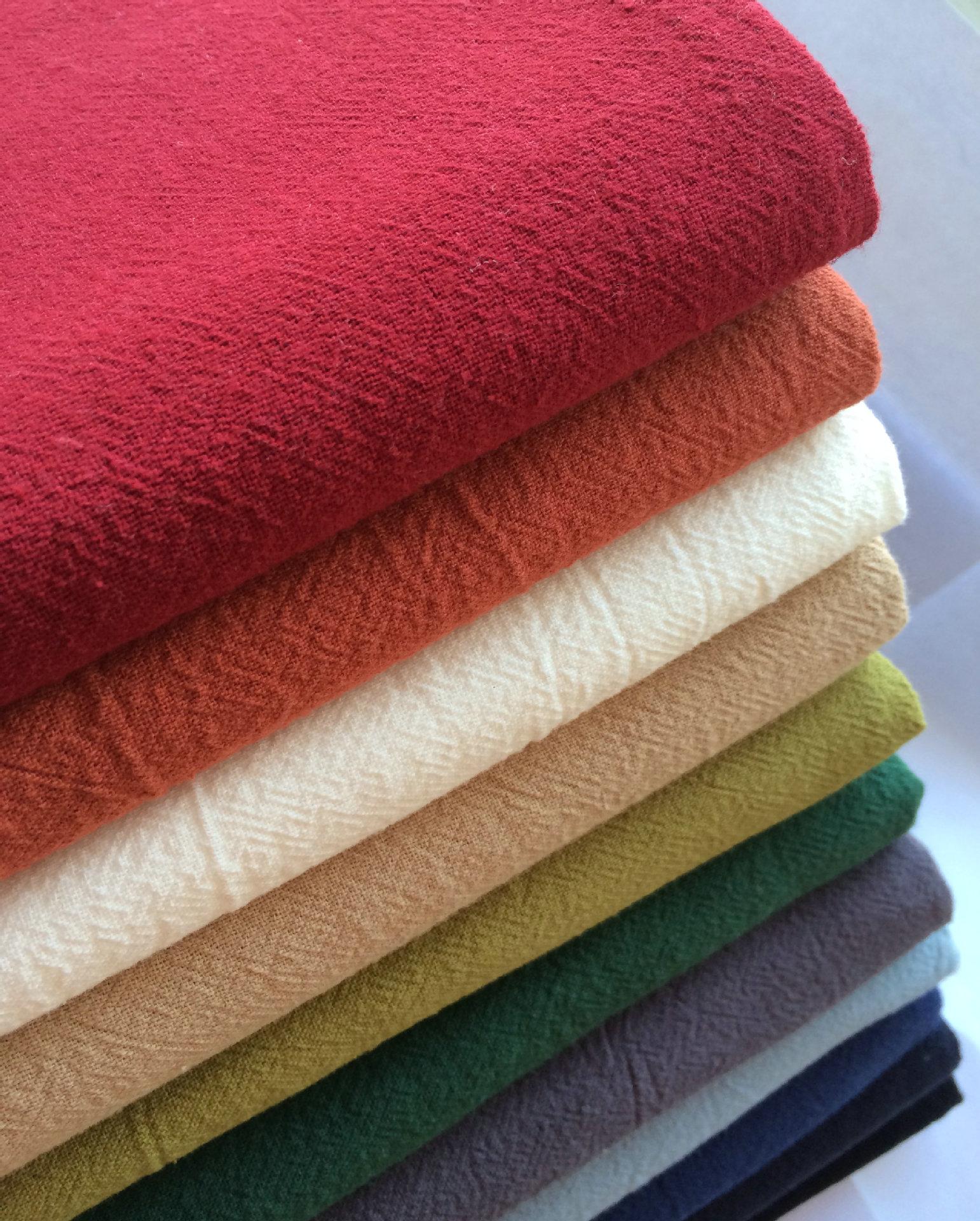 DONGSHEN Vải Linen Hoạt động in và nhuộm vải gai dầu, vải lanh, vải cotton và vải lanh, crepe xếp li
