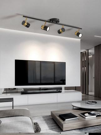 Xunze  Đèn LED gắn ray led trần ánh sáng nhà downlight phòng khách nền tường ánh sáng Bắc Âu bề mặt