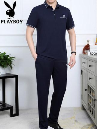 Playboy Đồ Suits   mùa hè giải trí thể thao phù hợp với nam 2020 mới trung niên và người cao tuổi bă