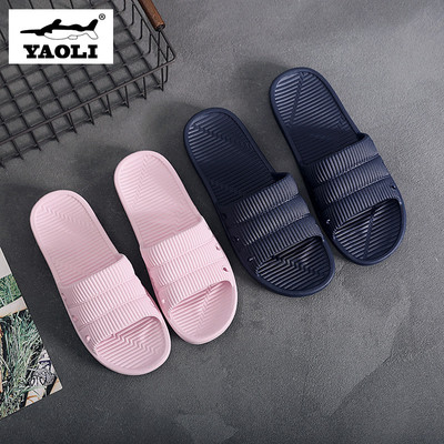 Yaoli Giầy dép Xia 2020 mới dép và dép nữ hộ gia đình chống trượt trong nhà và sàn đôi mềm mại im lặ