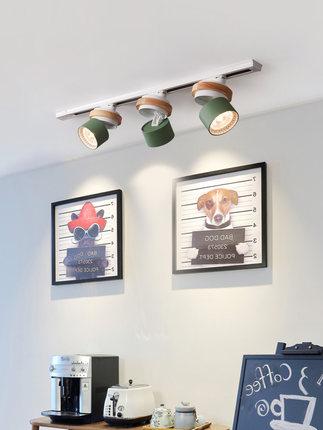 Đèn LED gắn rayBắc Âu theo dõi ánh sáng sáng tạo nhà phòng khách TV tường cửa hàng quần áo cửa hàng