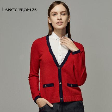 LANCY FROM 25 Thời trang nữ Áo len dệt kim Langzi mùa hè của phụ nữ áo khoác mỏng mới của phụ nữ điề
