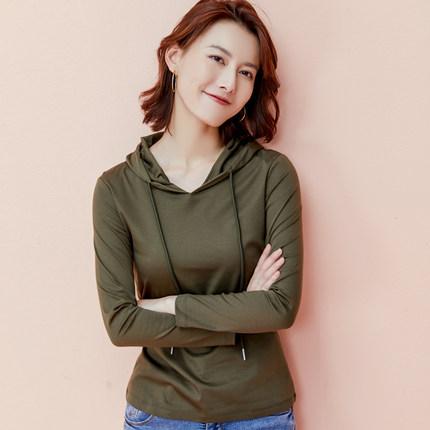 Sweater (Áo nỉ chui đầu)2 Áo len trùm đầu cotton Yingmanfei 2020 nữ mới mùa xuân và mùa thu mỏng ph