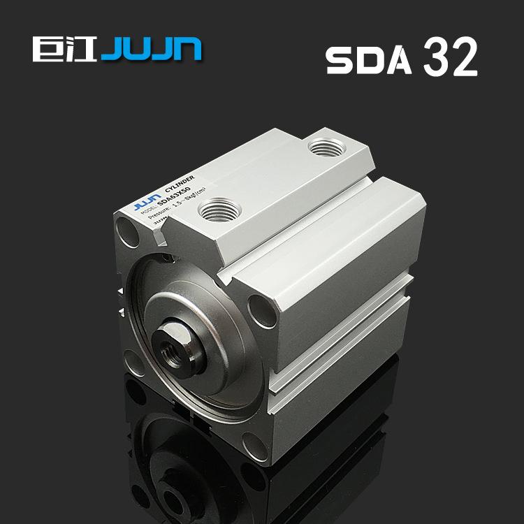 Ống xilanh Xy lanh mỏng khí nén SDA32 * 5/10/15/20/25/30/30/40/50/60/70/80/90 xi lanh vuông