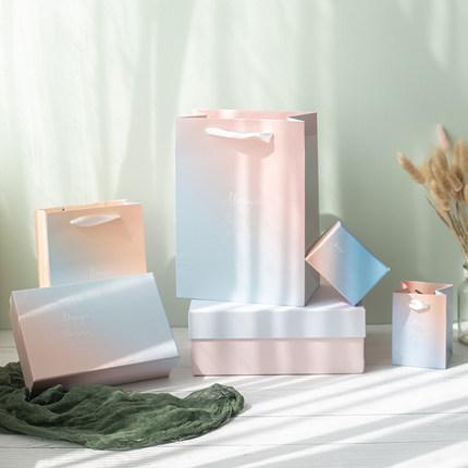 Túi giấy đựng quà  Túi quà tặng bao bì túi quà tặng túi quà túi giấy tote túi Hàn Quốc đơn giản in l