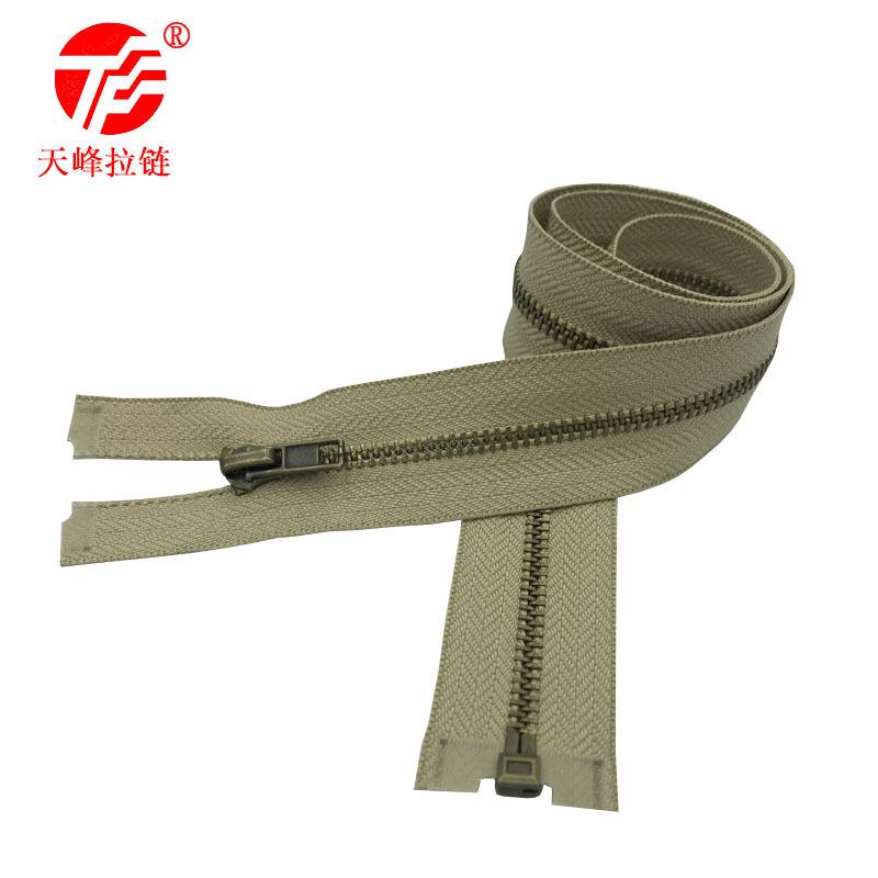 LALASHOU Dây kéo kim loại số 3 dây kéo bằng đồng mở đuôi mùa thu dây kéo bảo vệ môi trường giặt khôn