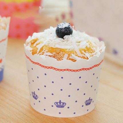Zhanyi Ly giấy  Muffin Cup 24 kích cỡ trung bình tráng miệng bánh bao bì hộp nhiệt độ cao bánh giấy