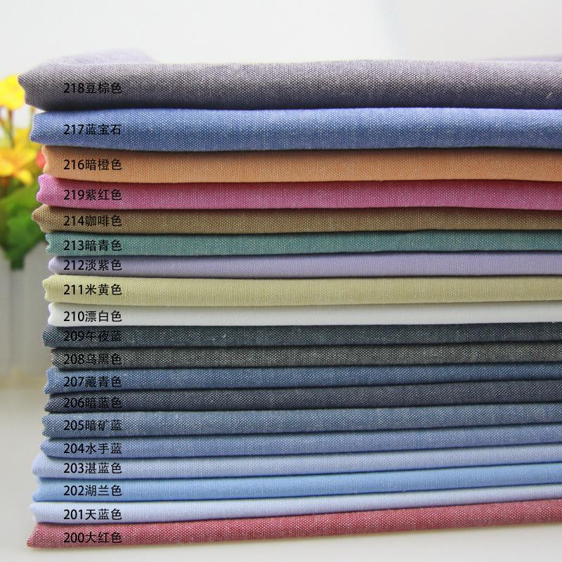 Vải cotton pha polyester Polyester-cotton oxford solid color dệt vải polyester-cotton pha vải quần á