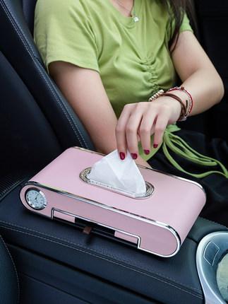 Shenfa Hộp giấy  Hộp khăn giấy sáng tạo giấy vệ sinh ô tô ngăn kéo hộp lưới màu đỏ xe trên tàu trang