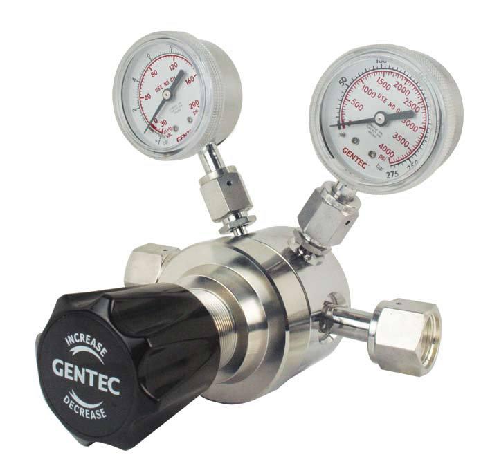 GENTEC Đồng hồ đo áp suất Jierui giảm áp có độ tinh khiết cao Van giảm áp GENTEC U21SLGK-DIP-52-92 g