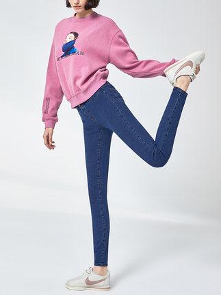 Goldfarm Thời trang nữ Mùa thu 2019 của Gao Fan quần skinny jeans mới nữ co giãn cao phiên bản Hàn Q