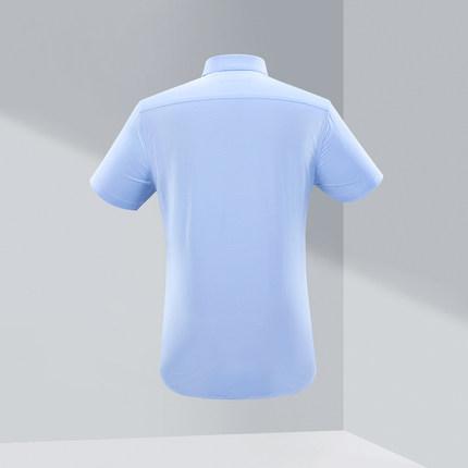 Hailan Áo Sơmi  HLA / Hailan House áo sơ mi tay ngắn túi mùa hè 2020 sản phẩm mới màu thuần váy đầm