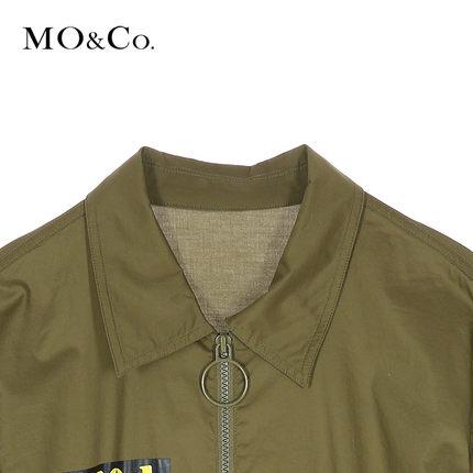 MOCO Váy mùa hè dụng cụ khóa kéo dây thun eo áo tay áo giữa váy nữ MA172DRS135